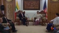 克里訪問緬甸展示支持民主和經濟改革