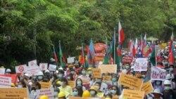 CDM လှုပ်ရှားမှုမှာ ပါဝင်သူတွေ အာဏာသိမ်းစစ်ကောင်စီ ဖမ်းဆီးဖြိုခွဲနေ