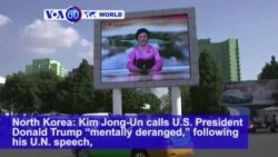 VOA60 World - Responding to Threat of More Nuclear Tests, Trump Dubs North Korean Leader 'Madman'