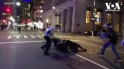 კიდევ ერთი მძიმე ღამე ნიუ-იორკისთვის - პოლიციამ 200-ზე მეტი აქციის მონაწილე დააკავა