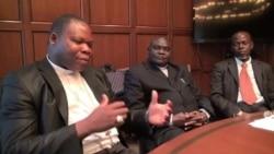 Dieudonné Nzapalainga, Nicolas Guérékoyame Gbangou et Omar Kobine Layama à Washington, le 18 mars 2014