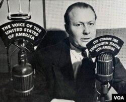 Early German-language VOA broadcaster, Robert Bauer.