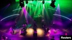 "People attend the first ""corona-proof"" dance event following the coronavirus disease outbreak in Nijmegen, Netherlands, June 6, 2020."