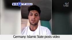 VOA60 World PM- Islamic State posts video allegedly of train attacker vowing suicide mission