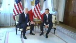 Perezida Trump Yahuye na Perezida w'Ubufaransa Macron