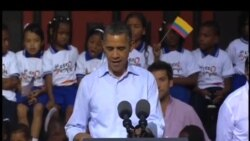 Obama con afrodescendientes colombianos