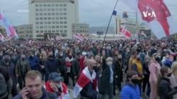 白俄羅斯警方使用眩暈手榴彈驅散抗議者
