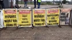 """Zimbabwe Independent Newspapers Splash """"Mugabe Must Go"""" Headlines"""