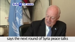 VOA60 World PM - Syria peace talks to re-start on March 9