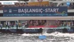İstanbul'da Kıtalararası Yüzme Yarışı