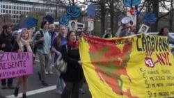 Protestas en Washington por desaparecidos en México