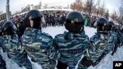 ARHIVA - Policija u Rusiji blokira proteste zbog hapšenja Alekseja Navalnog