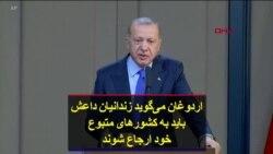 اردوغان میگوید زندانیان داعش باید به کشورهای متبوع خود ارجاع شوند