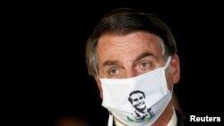 Prezidan Brezilyen an, Jair Bolsonaro.