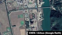 지난해 10월 영변 핵 시설을 촬영한 위성사진. 사진제공: CNES / Airbus (Google Earth).