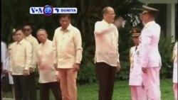 VOA60 DUNIYA: PHILIPPINES Shugaba Benigno Aquino Ya Sauka Daga Kujerarsa a Wani Bikin Barin Gado