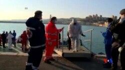 2015-04-14 美國之音視頻新聞: 意大利在利比亞水域救起144名船民