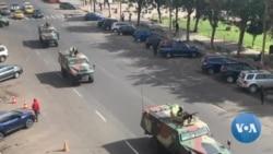 Des blindés dans les rues de Dakar