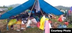 Tenda darurat yang di huni warga terdampak banjir bandang di desa Meli, Luwu Utara. Sulawesi Selatan. (16/7) Foto : Zwaib Leibe/SAR Mapala Muhammadiyah Indonesia