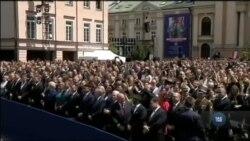 Як зустрічали американського президента у Варшаві - подробиці. Відео