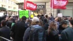 В Нью-Йорке в субботу продолжились массовые протесты против избрания Трампа
