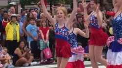 美国首都华盛顿独立节游行