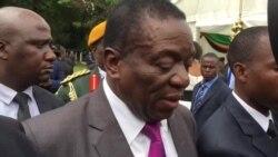 President Mnangagwa Speaks to Journalists After Swearing in Of His Deputies