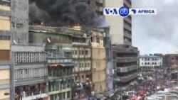 Manchetes Africanas 5 Novembro: Bombeiros nigerianos combatem incêndio no Mercado do Balogun