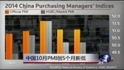 中国10月PMI创5个月新低