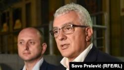 Arhiva: Milan Knežević, predsjednik Odbora za bezbjednost i odbranu Skupštine Crne Gore (Foto: RSE, Savo Prelević)