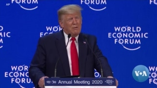 Trump Touts US Economy in Davos as Impeachment Trial Begins