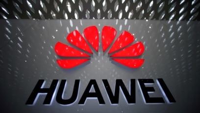 Logo perusahaan Huawei di Shenzhen, Guangdong province, China (foto: dok).