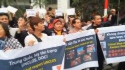 越南警察驅散反華示威人群