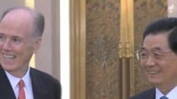 美国家安全顾问多尼隆与胡锦涛会谈