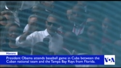 Obama, Castro Watch Tampa Bay Rays, Cuban Nationals Baseball Game