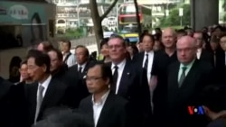 2014-06-27 美國之音視頻新聞: 香港律師黑衣靜默遊行抗議白皮書