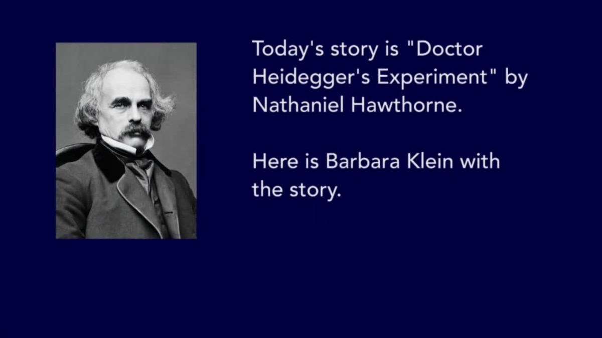"essays on dr heideggers experiment 8 was this a true ""experiment"" if so, what was being tested in the short story ""dr heidegger's experiment"", by nathaniel hawthorne, rather than observing the effect on people of the water from the fountain of youth, there is a true experiment behind."
