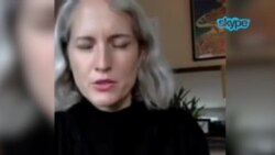 ICIJ成员欧蕾珊(Alexa Olesen)4月8日通过Skype接受美国之音专访