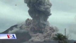 Núi lửa Sinabung của Indonesia lại phun trào