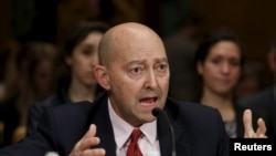 Retired Navy Adm. James Stavridis, former NATO Supreme Allied Commander, testifies on Capitol Hill in Washington, March 26, 2015.