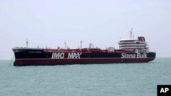 Британский танкер Stena Impero в иранском порту Бандар Аббас. 20 июля 2019 г.