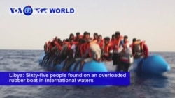 VOA60 World- German charity vessel rescued 65 people from an overloaded rubber boat in international waters off the Libyan coast