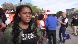 上千学生在巴尔的摩举行抗议