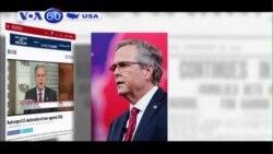 Ông Jeb Bush: Mỹ nên tăng cường sự hiện diện quân sự ở châu Âu, Trung Đông (VOA60)