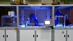 大江生医4月发布自动化新冠病毒检疫设备,精确度达99.9%,单一机台能在24小时内,检测2000个以上的检测样本。(大江生医提供)