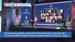VOA60 Ameerikaa - President-elect Biden met with a COVID-19 task force led by former Surgeon General Vivek Murthy