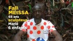 """""""Nous, Sénégalais"""", l'artiste et sculpteur Meissa Fall veut aller loin"""