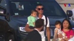 Cristiano Ronaldo a atterri à Turin pour sa première séance d'entraînement (vidéo)