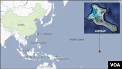 Lokasi Kepulauan Kiribati di Samudra Pasifik (foto: ilustrasi).