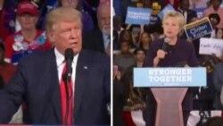 USA: Abakandida Hillary Clinton na Donald Trump Babonye Umwanya wo Gukangura Ababashyigikiye.